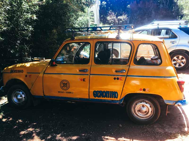 taxi jaune de Diego