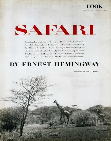 Reportage Ernest Hemingway